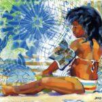 Playa Lagun Postzegel 3 (Medium)